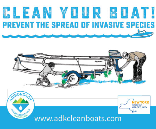 Clean Your Boat. Prevent the spread of Invasive Species.